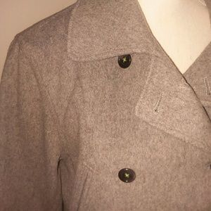 J Crew grey double breasted peacoat